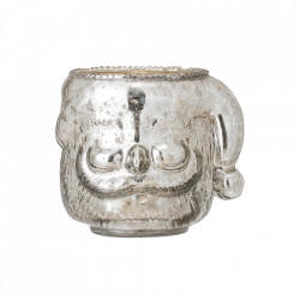 Suport lumanare gri argintiu din sticla 9 cm Parker Bloomingville