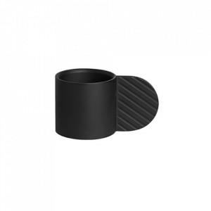 Suport lumanare negru din metal 8 cm Art Circle Oyoy