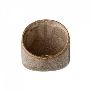 Suport maro din ceramica pentru lumanare 7,5 cm Arnie Bloomingville