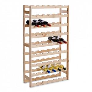 Suport maro din lemn de pin pentru sticle de vin Pine Zeller