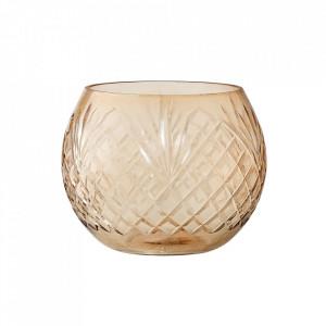 Suport maro din sticla pentru lumanare 10 cm Yoder Bloomingville