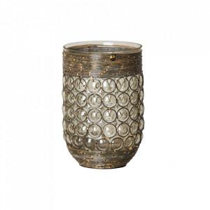 Suport maro din sticla pentru lumanare 22 cm Holly Vical Home