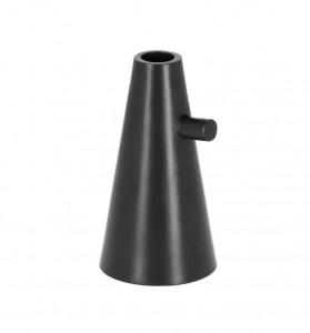 Suport negru din aluminiu pentru lumanare 15 cm Philana La Forma