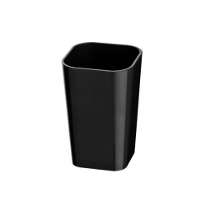 Suport negru din polistiren pentru periuta dinti 7x11 cm Candy Black Wenko