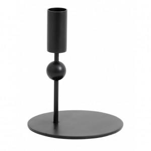 Suport negru pentru lumanare 15 cm Mercury Nordal