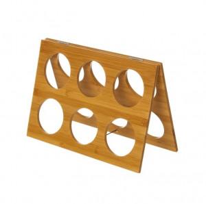 Suport pliabil maro pentru sticle din lemn de bambus Davina Unimasa