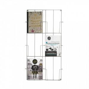 Suport reviste din fier pentru perete Garyn Madam Stoltz