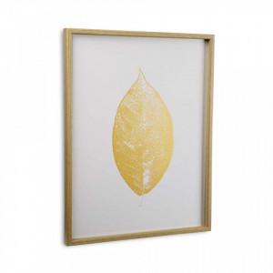 Tablou alb/galben din canvas 45x60 cm Leaf Versa Home