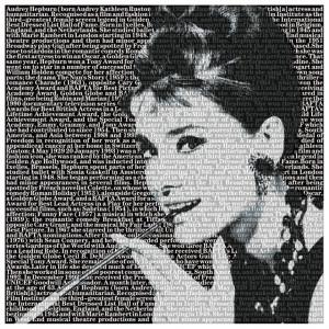 Tablou alb/negru din sticla 120x120 cm Audrey Ter Halle
