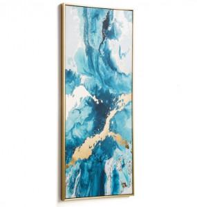 Tablou albastru din lemn 50x120 cm Iconic Kave Home