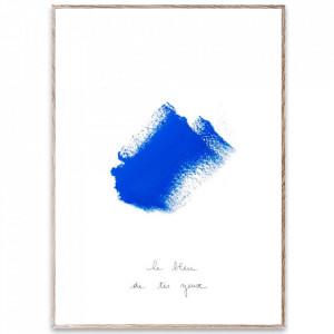 Tablou cu rama din lemn de stejar 30x40 cm Le Bleu III Paper Collective