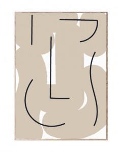 Tablou cu rama din lemn de stejar Different Strokes Paper Collective