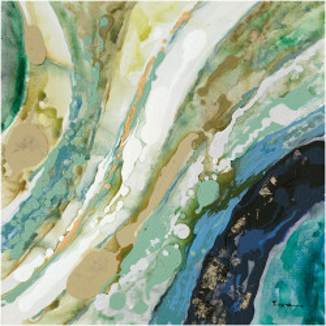 Tablou multicolor din canvas si lemn 70x70 cm Ixora Ter Halle
