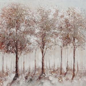 Tablou multicolor din canvas si lemn 80x80 cm Woods Ter Halle