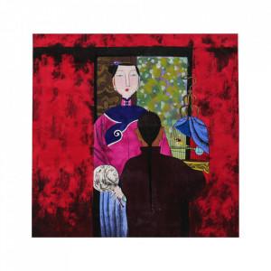Tablou multicolor din hartie 34x34 cm Anais Versmissen
