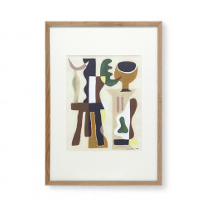 Tablou multicolor din lemn si sticla 49x69 cm Garance Vallee HK Living