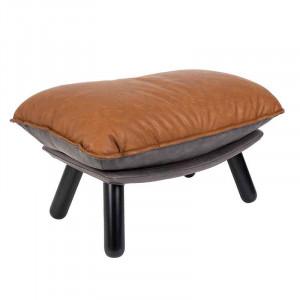 Taburet dreptunghiular maro din lemn de fag si poliuretan 54x81 cm Lazy Zuiver