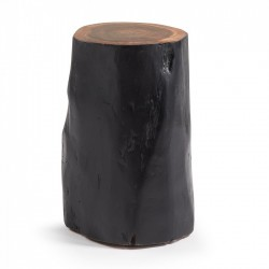 Taburet negru din lemn 47 cm Homey La Forma