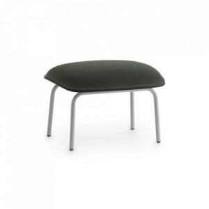 Taburet pentru picioare dreptunghiular gri/negru din textil si otel 45x60 cm Pad Normann Copenhagen