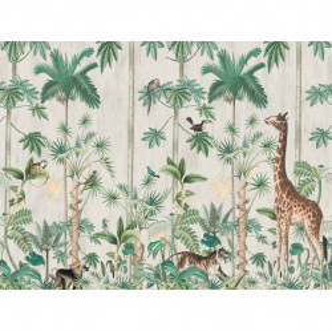 Tapet din hartie cu fibre de nailon Giraffe's Stroll Rebel Walls