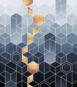 Tapet din hartie cu fibre de nailon Gradient Geometry Rebel Walls
