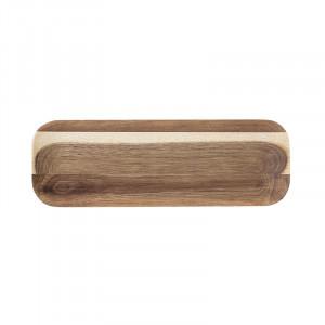 Tava dreptunghiulara maro din lemn 10x30 cm Acacia Brown Bloomingville