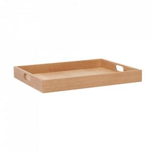 Tava dreptunghiulara maro din lemn de stejar 35x45 cm Fannie Hubsch