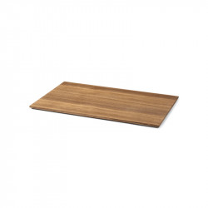 Tava dreptunghiulara maro din lemn pentru ghiveci 35x57,5 cm Lara Ale Ferm Living