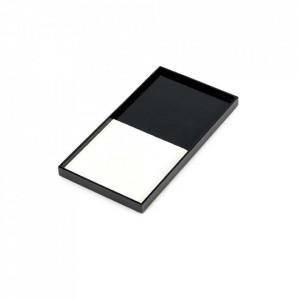 Tava dreptunghiulara neagra/alba din lemn 15x30 cm Geometry Serax