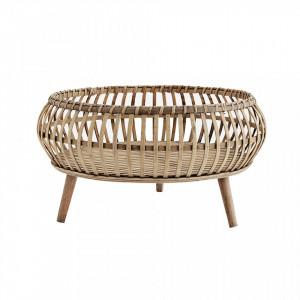 Tava rotunda cu suport din bambus si placaj 41 cm Steve Madam Stoltz