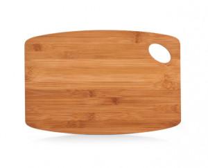 Tocator dreptunghiular maro din lemn 23x34 cm Finger Hole Big Zeller