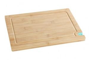 Tocator dreptunghiular maro/turcoaz din lemn si polipropilena 23x33 cm Knife Sharpener Wenko