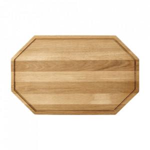 Tocator octagonal maro din lemn 25x40 cm Wonder Bolia