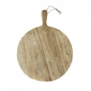 Tocator rotund maro din lemn de mango 40 cm Gio Madam Stoltz