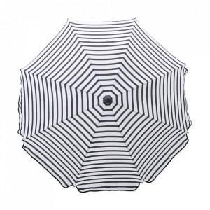 Umbrela soare alba/neagra din otel si poliester pentru terasa Oktagon House Doctor