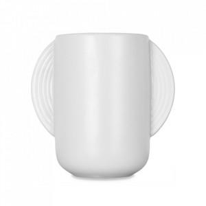 Vaza alba din ceramica 20 cm Cop Opjet Paris
