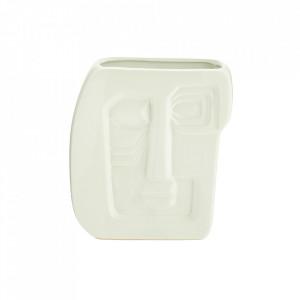 Vaza alba din ceramica 20 cm Face Madam Stoltz