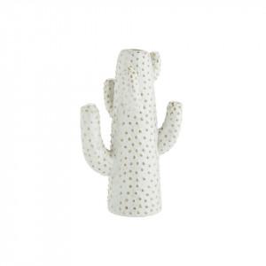 Vaza alba din ceramica 21 cm Cactus Madam Stoltz