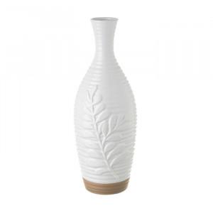 Vaza alba/grej din ceramica 37 cm Cosma Unimasa