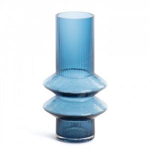 Vaza albastra din sticla 29 cm Dadal La Forma