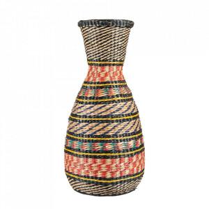 Vaza decorativa multicolora din bambus 42 cm Karina Versmissen