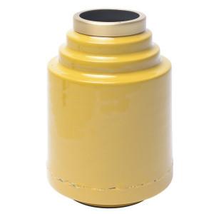 Vaza galbena din metal 20 cm Olia Zago
