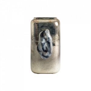 Vaza gri din sticla si fier 35 cm Melfi Vical Home