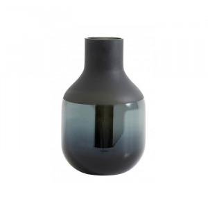 Vaza gri inchis din sticla 26 cm Gery Nordal