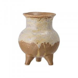 Vaza maro/crem din ceramica 10,5 cm Ragnar Bloomingville