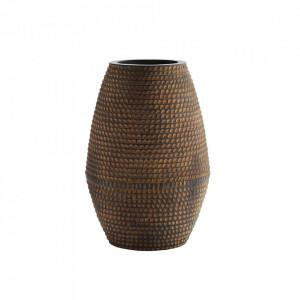 Vaza maro din lut 45 cm Striped Madam Stoltz