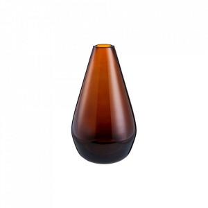 Vaza maro din sticla 14 cm Belle Amber Mini Bolia