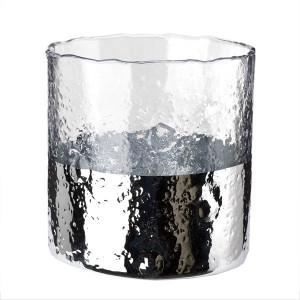 Vaza transparenta/arginitu din sticla 11 cm Hurricane Ripple Pols Potten
