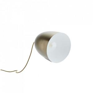 Veioza alba/aurie din fier 29 cm Shinan Madam Stoltz