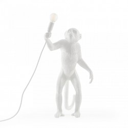 Veioza alba din rasina 54 cm The Monkey Standing Outdoor Version Seletti
